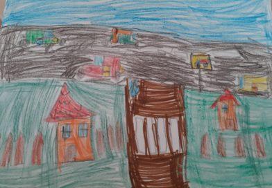 Първокласници рисуват безопасно движение по улицата